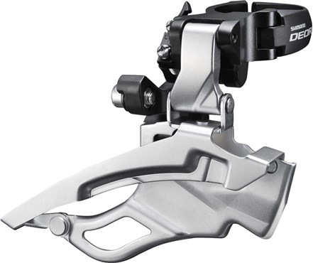 Image of Shimano FD-T611 Deore Front Derailleur - Down-Swing - Dual-Pull - Multi Fit - 63-66 Deg