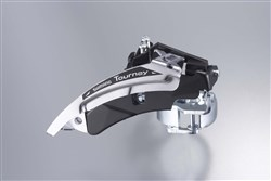 Image of Shimano FD-TX50 Hybrid Front Derailleur - Top Swing - Dual-Pull And Multi Fit