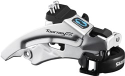 Image of Shimano FD-TX800 Tourney TX Front Derailleur, Top Swing, Dual Pull