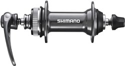Image of Shimano HB-CX75 Front Hub For Centre-Lock Disc -  28 Hole, Grey