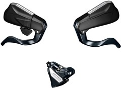 Image of Shimano Metrea ST-U5060-R/BL-U5010-L  Bled Disc Brake, Mechanical STI Fully Bled Set