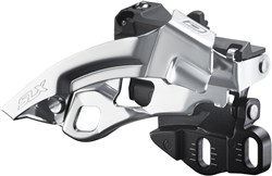Image of Shimano SLX 10-speed Triple Front Derailleur  Dual Pull E-type FDM670A