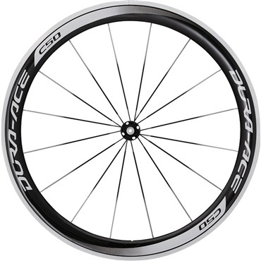 Image of Shimano WH-9000 Dura-Ace C50-CL Carbon Clincher 50mm Front Road Wheel