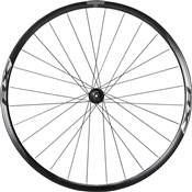 Image of Shimano WH-RX010 Disc Road Wheel, Clincher 24 mm, Black, Front