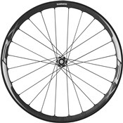 Image of Shimano WH-RX830 Disc Road Wheel - Tubeless Ready Clincher 35 mm - Front