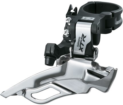Image of Shimano XTR M981 10 Speed Triple Conventional Swing, Dual-Pull Front Derailleur