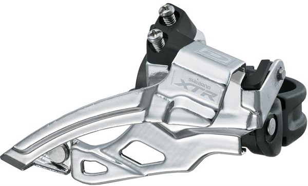 Image of Shimano XTR M985 10 Speed Double Front Derailleur, Top Swing, Dual Pull