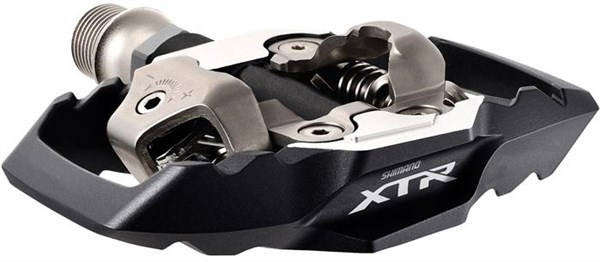Image of Shimano XTR MTB SPD Trail Pedals - PD-M9020 Wide Platform Two-sided Mechanism