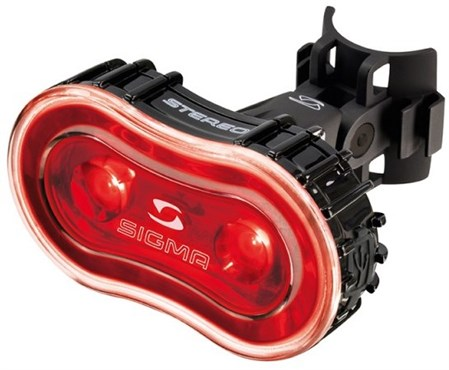 Image of Sigma Stereo 2 LED USB Rechargeable Rear Light