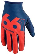 Image of Sixsixone 661 Comp Slice Long Finger Cycling Gloves SS17