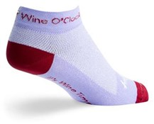"Image of SockGuy 1"" Wine O Clock Womens Socks"