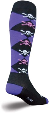 "Image of SockGuy 12"" High Skulls Knee High Socks"