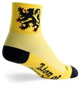 "Image of SockGuy Classic 3"" Lion of Flanders Socks"