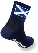"Image of SockGuy Classic 3"" Socks - Scottish Flag Blue"
