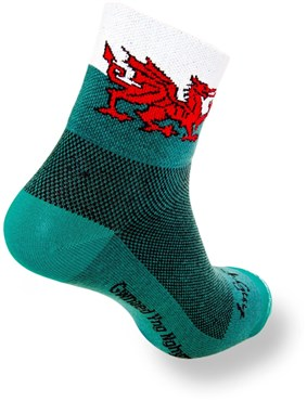 "Image of SockGuy Classic 3"" Socks - Welsh Dragon"