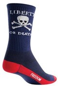 "Image of SockGuy Crew 6"" Liberty or Death Socks"