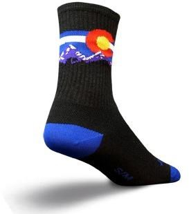 "Image of SockGuy Crew 6"" Wool Colorado Mountain Socks"