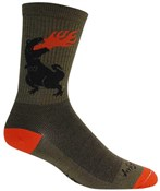 "Image of SockGuy Crew 6"" Wool Dinosaur Socks"