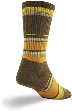 "Image of SockGuy Crew 6"" Wool Forest Socks"
