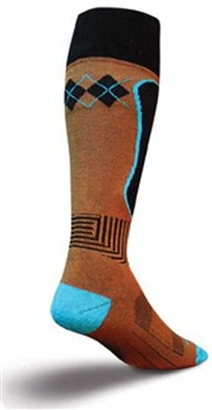 Image of SockGuy MTN-Tech Snowboard Triple Mocha Socks