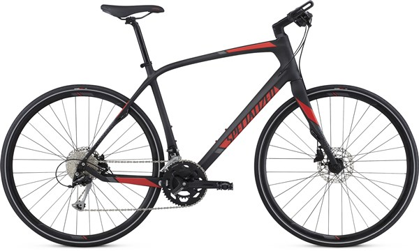 Image of Specialized Sirrus Sport Carbon 700c 2017 Hybrid Bike