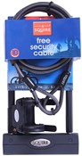 Image of Squire Challenger D Lock and 8c Cable Value Pack -  Sold Secure Bronze