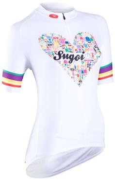 Image of Sugoi I Heart Bikes Womens Short Sleeve Cycling Jersey