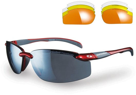 Image of Sunwise Pacific Sunglasses With 4 Interchangeable Lenses