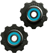 Image of Tacx Jockey Wheels Sram Race Ceramic Ball Bearings (Si3N4) With Teflon Wheel
