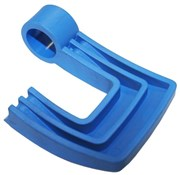 Image of Tacx Quick Release Lever (L/H Axle Clamp) Booster/Satori Blue (Plastic Lever Only)