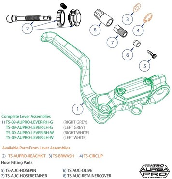 Image of Tektro Auriga Pro Lever Reach Assembly Kit