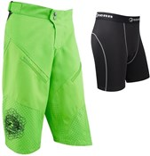 Image of Tenn Breeze MTB Cycling 3/4 Length Baggy Shorts with Coolflo Padded Boxers Combo Deal SS16