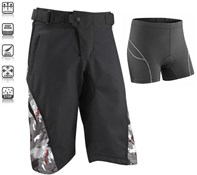 Image of Tenn Burn MTB Cycling Shorts with Padded Boxers Combo Deal