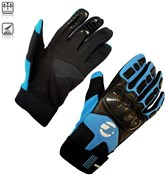 Image of Tenn Leather and Carbon MTB Knuckle Long Finger Cycling Gloves