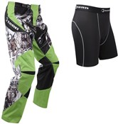 Image of Tenn Rage MX/DH/BMX Off Road Cycling Pants with Coolflo Padded Boxers Combo Deal SS16