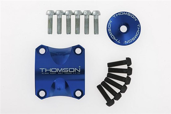 Image of Thomson X4 Clamp & Top Cap Coloured Sets