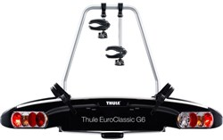 Image of Thule 928 EuroClassic G6 2-bike Towball Carrier AcuTight Torque Knobs 13-pin