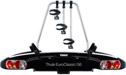 Image of Thule 929 EuroClassic G6 3-bike Towball Carrier AcuTight Torque Knobs 13-pin
