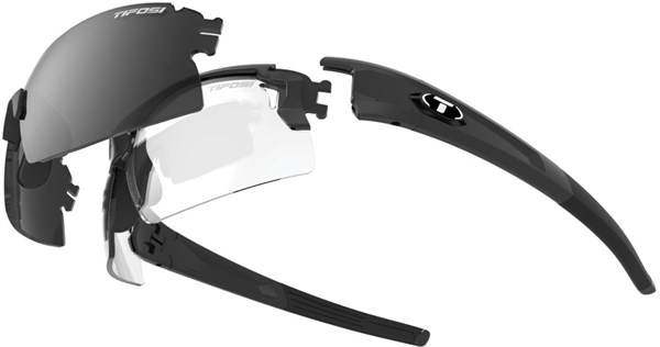 Image of Tifosi Eyewear Pro Escalate Shield and Full Fototec Sunglasses