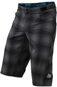 Image of Troy Lee Designs Skyline Plaid Youth MTB Cycling Shorts SS16
