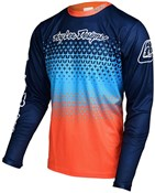 Image of Troy Lee Designs Sprint Starburst Youth Long Sleeve Cycling Jersey