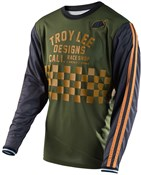 Image of Troy Lee Designs Super Retro Check Long Sleeve Cycling Jersey