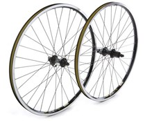 Image of Tru-Build Shimano Deore hub, built onto Mach 1 MX rim