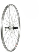 Image of Tru-Build Silver Alloy Rim Built on Shimano 7 Speed Cassette Alloy Q/R Hub