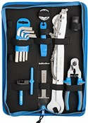 Image of Unior Set Of Bike Tools 17 Pieces In Bag 1600A6