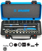 "Image of Unior Socket Set 3/8"" In Metal Box"