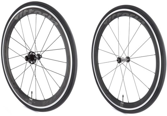 Image of Vittoria Fraxion Hybrid Aero Carbon/Alloy SRAM/Shimano No Tool Freewheel Quick Release Clincher Wheelset