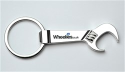 Image of Wheelies.co.uk Spanner Keyring Bottle Opener