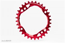 Image of absoluteBLACK 104BCD Spider Mount Oval Chainring N/W
