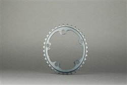 Image of absoluteBLACK 110BCD 4 Bolt Spider Mount Aero Oval 2X Asymmetric Winter Training Inner Chainring